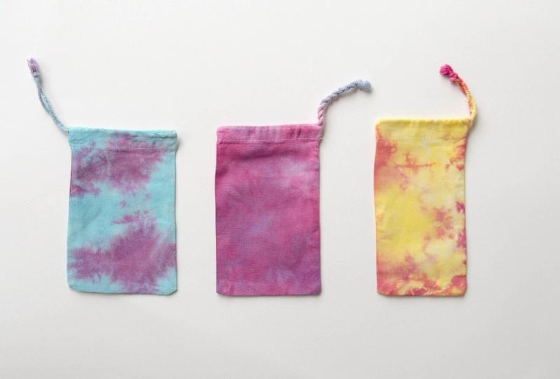 Shibori pouches and bags