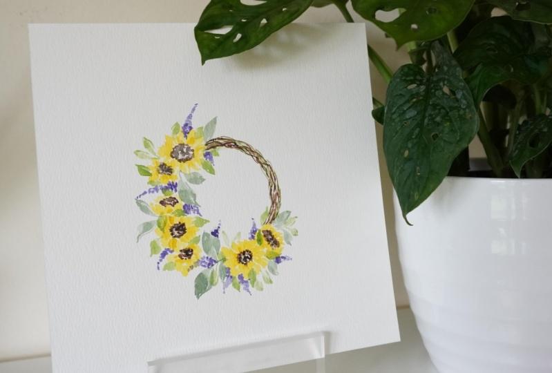 Watercolor Loose Floral Wreaths