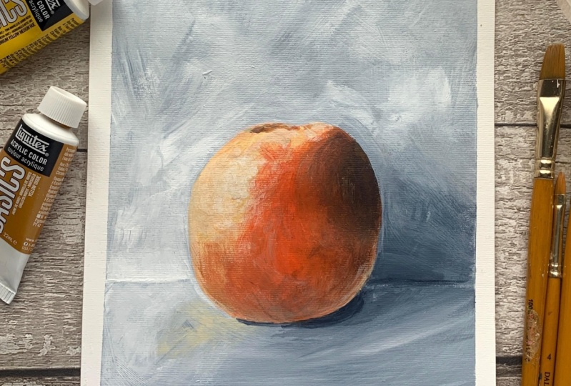 Back to basics: Acrylic still life
