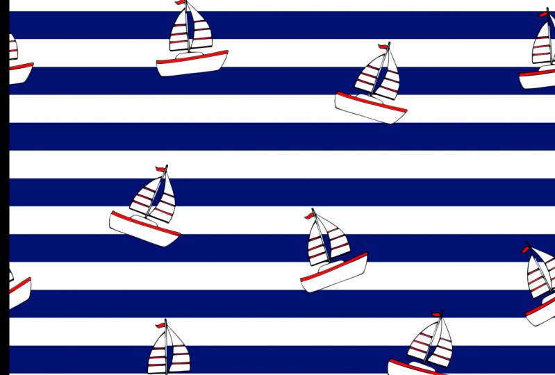 Sea and boats pattern