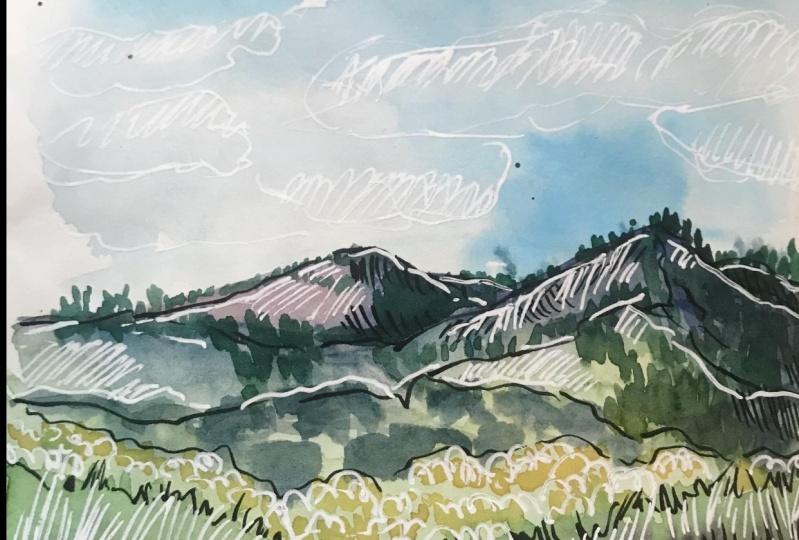 Landscape Journaling in Nikalola's Style