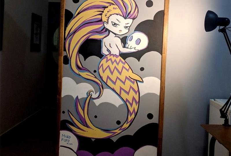 Mermaid Mural _ Mako Fufu