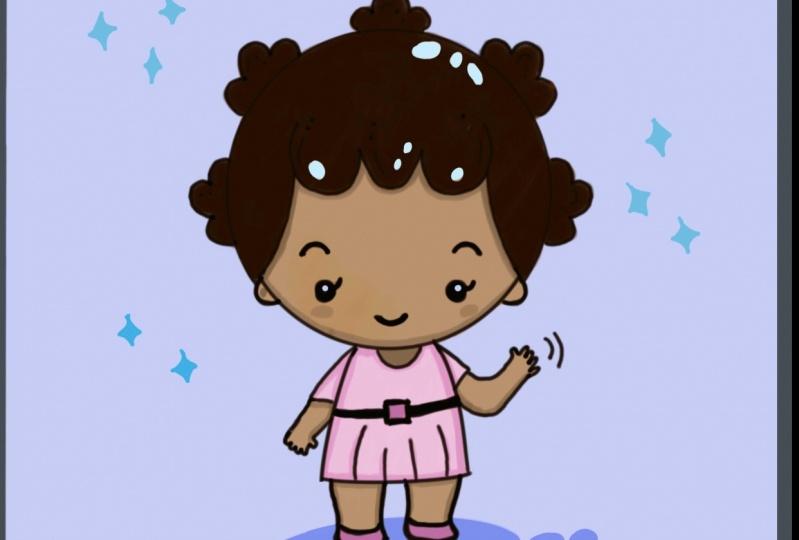 Kawaii African girl