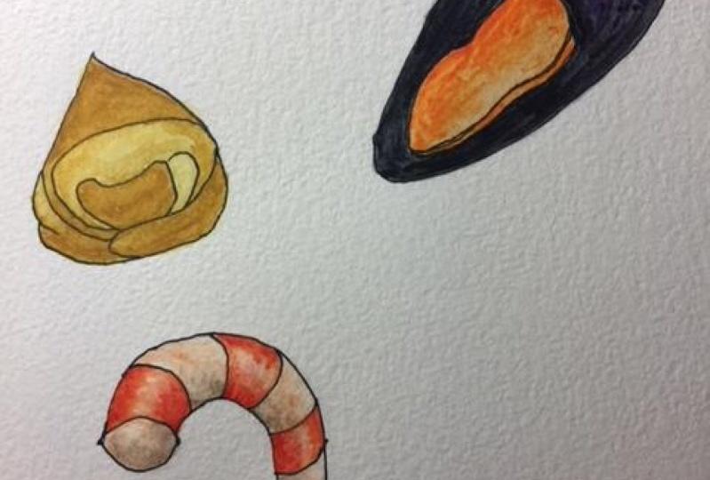 tortelini mussel shrimp