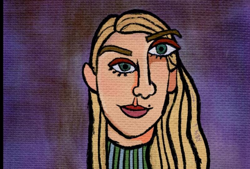 Amelia's Picasso Portrait