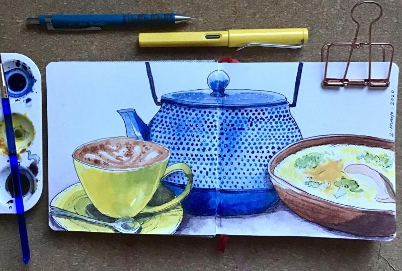 Café Sketching Project