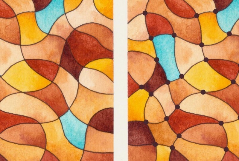 Doodle Net with Watercolour