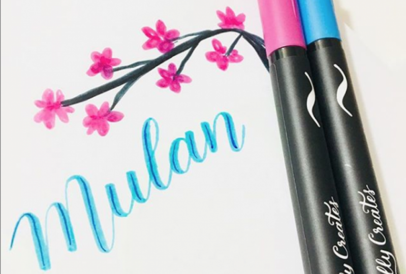 Hand lettering Mulan