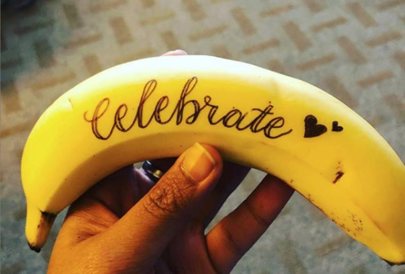 Lettering on Banana