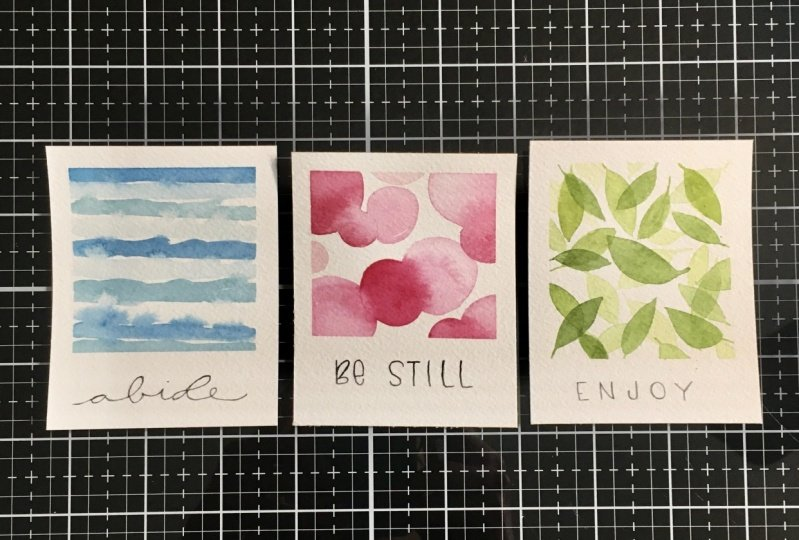 Relaxing Watercolour Projects