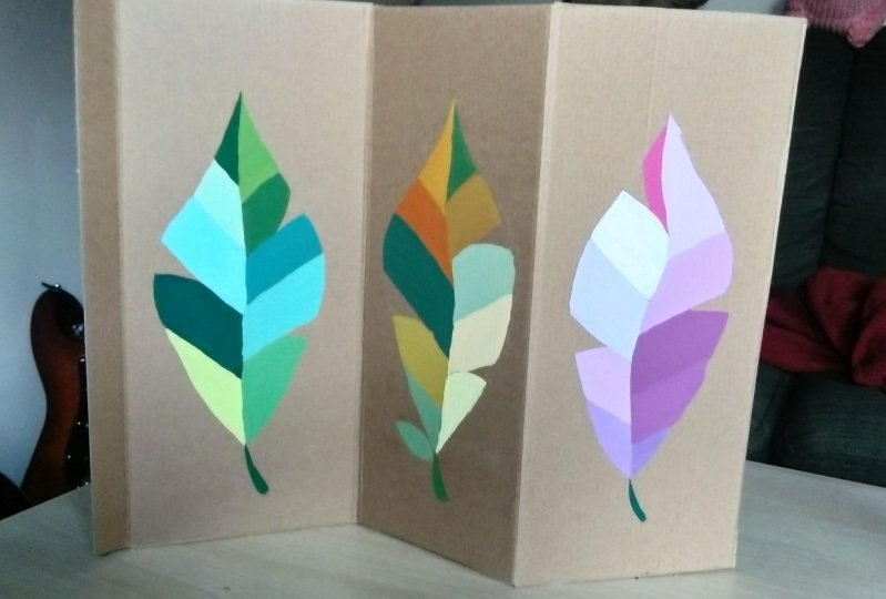 Three types of tropical leaves