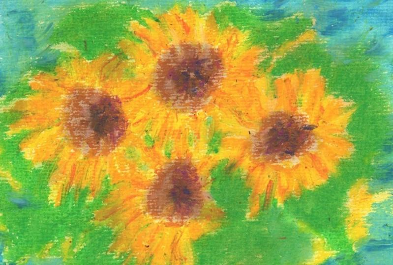 Oil Pastel & Watercolor
