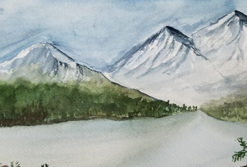 Mountain in Watercolor