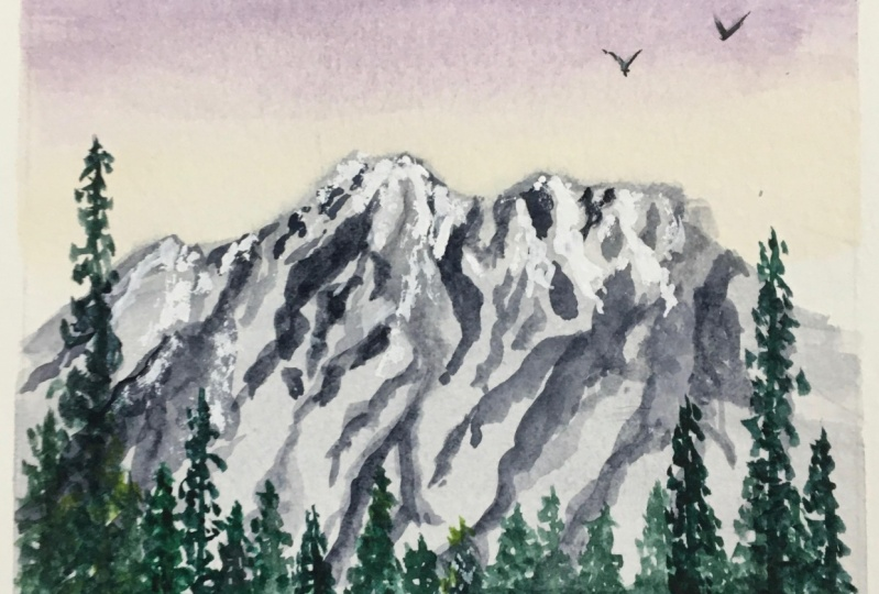 Mountain Top With Trees