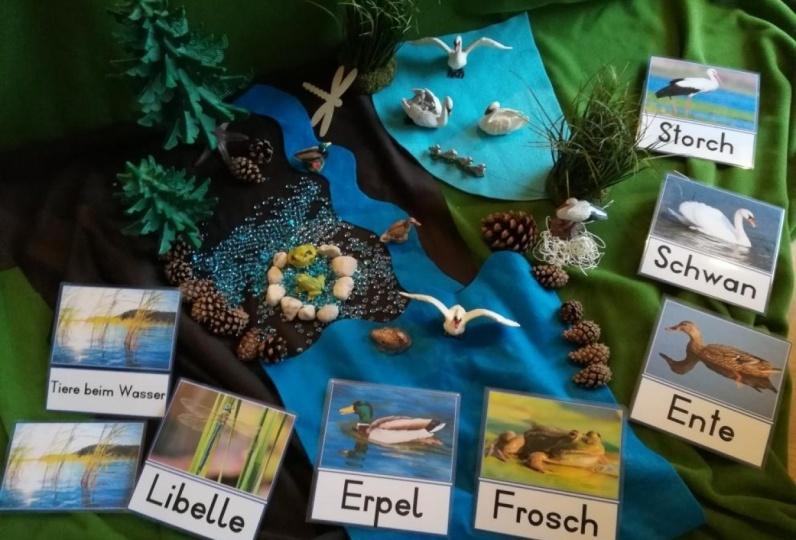 Leselern-Set: 1) Tiere beim Wasser 2) Bauernhoftiere