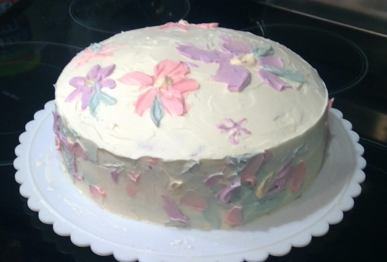Pastel Abstract Painting Cake