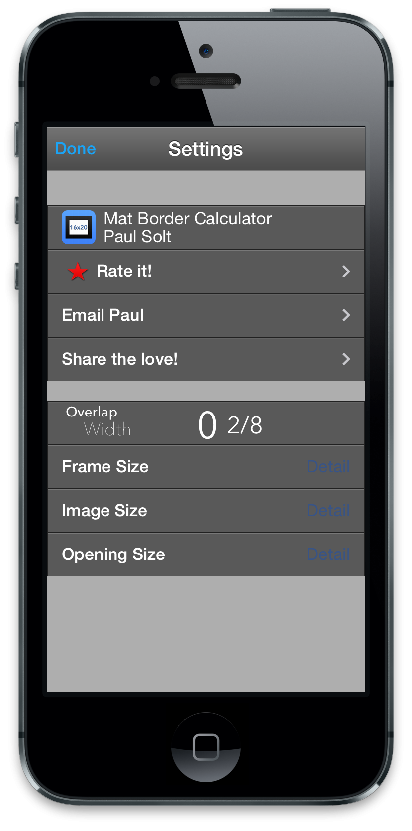 Mat Border Calculator for iPhone | Skillshare Projects