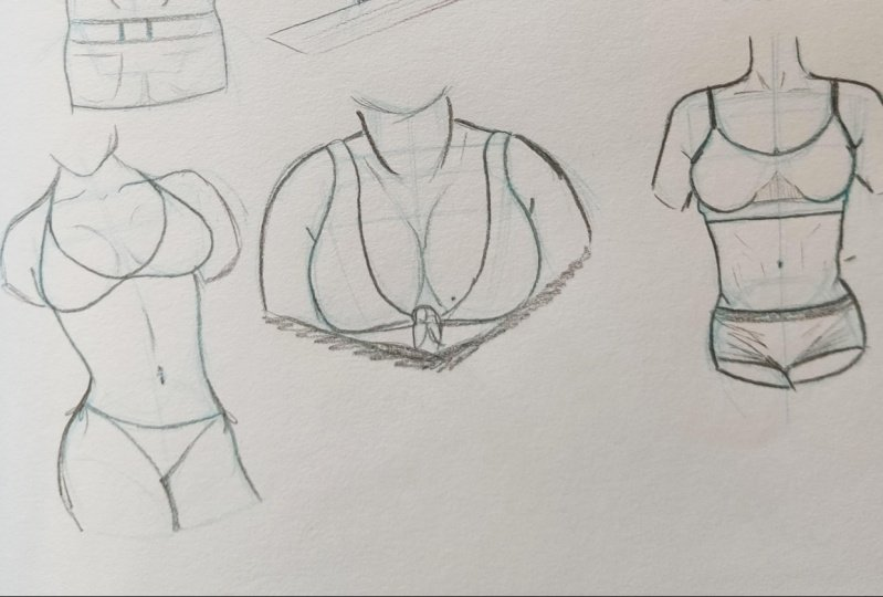 Drawing breasts
