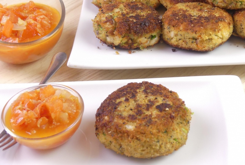 Herby Refried Bean Cakes