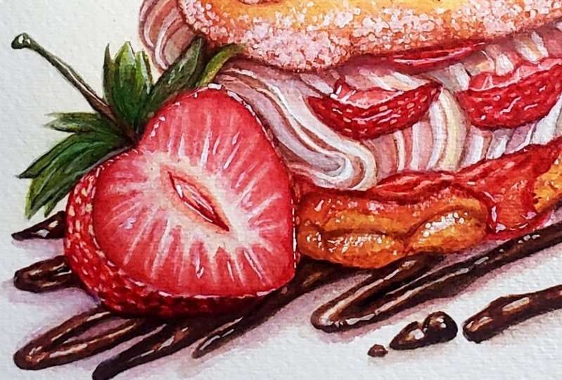 Strawberry Pastry Puff