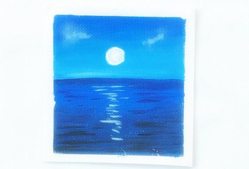 Acrylic landscape painting