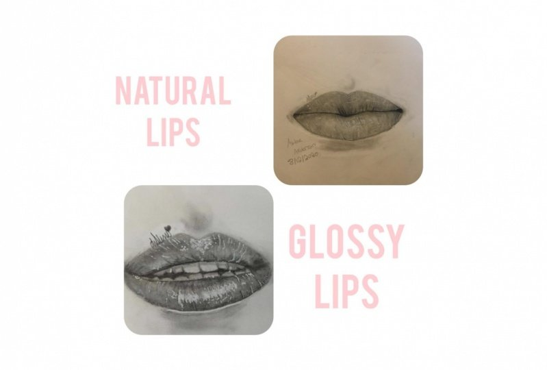 Realistic lips (Glossy and natural)