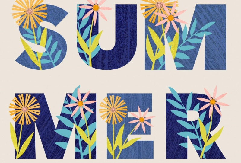 Gill's Floral Typography Project