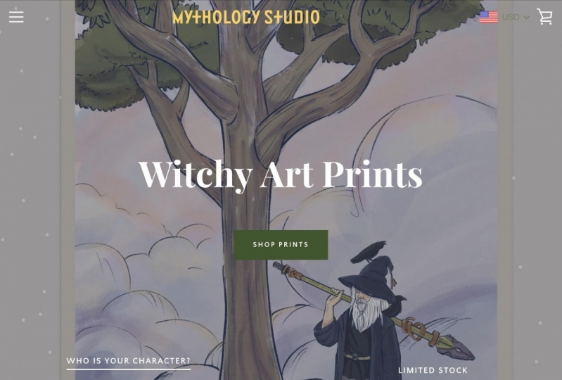 Mythology Studio Website