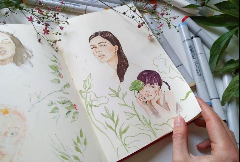 My Sketchbook portraits