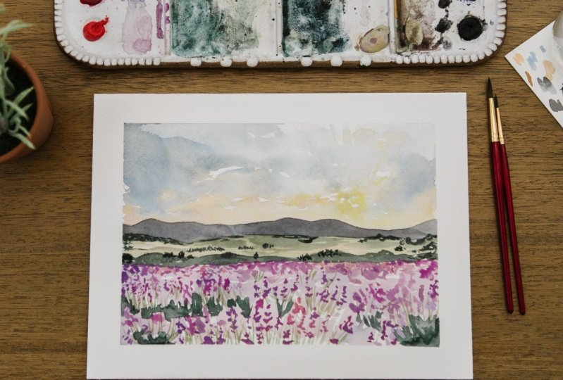 Sample Project: Provence France Lavender Field