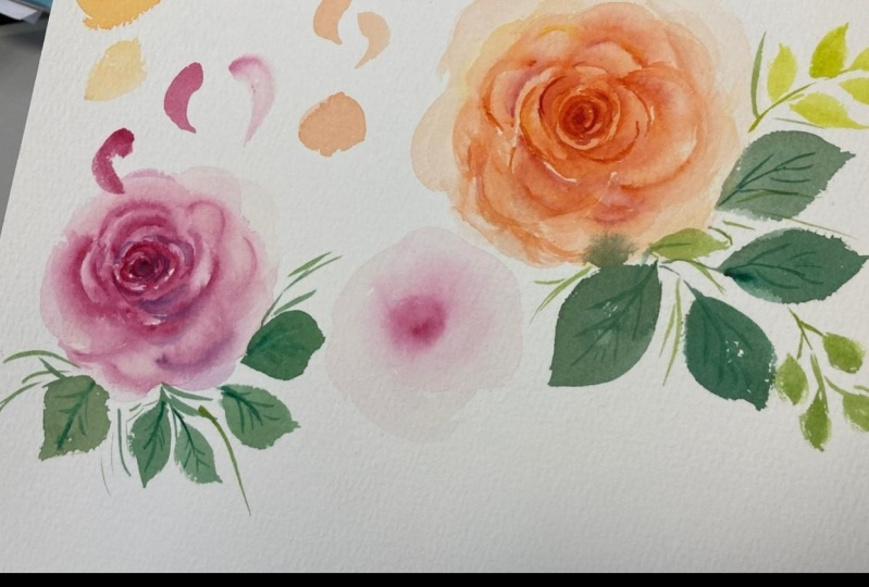 Watercolour Rose with Esther Peck