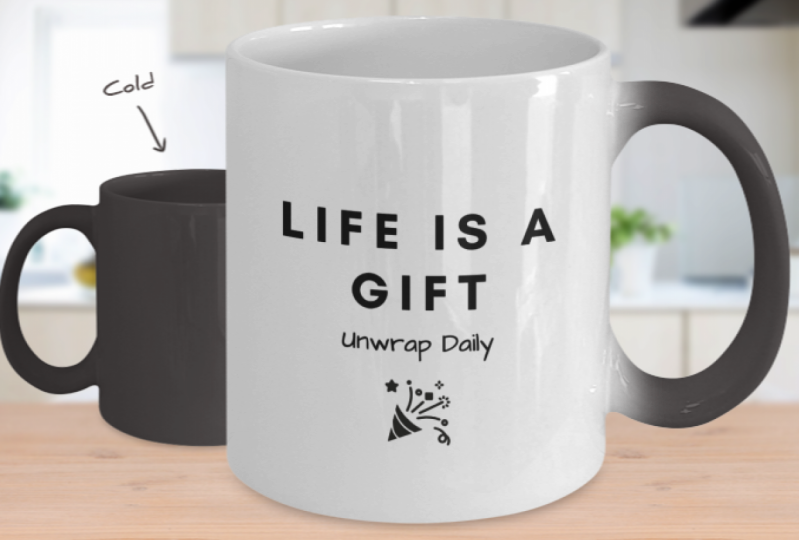 Life is a Gift Color Changing Mug