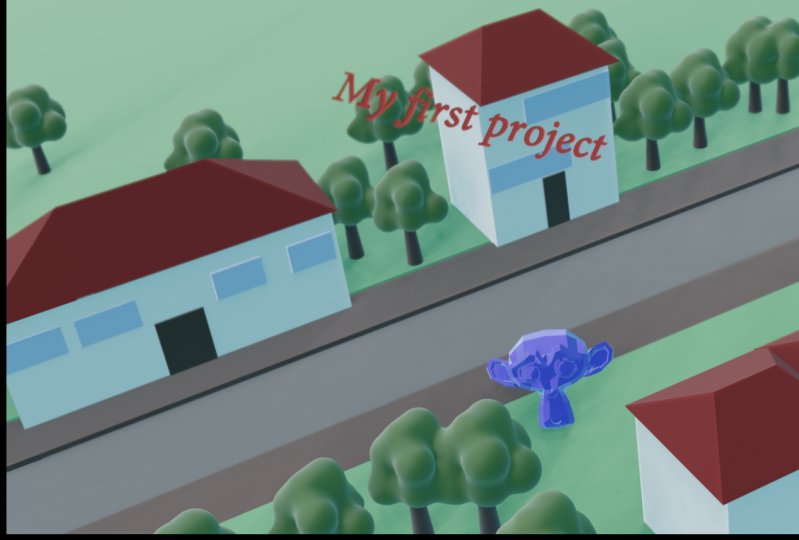 My first 3d project