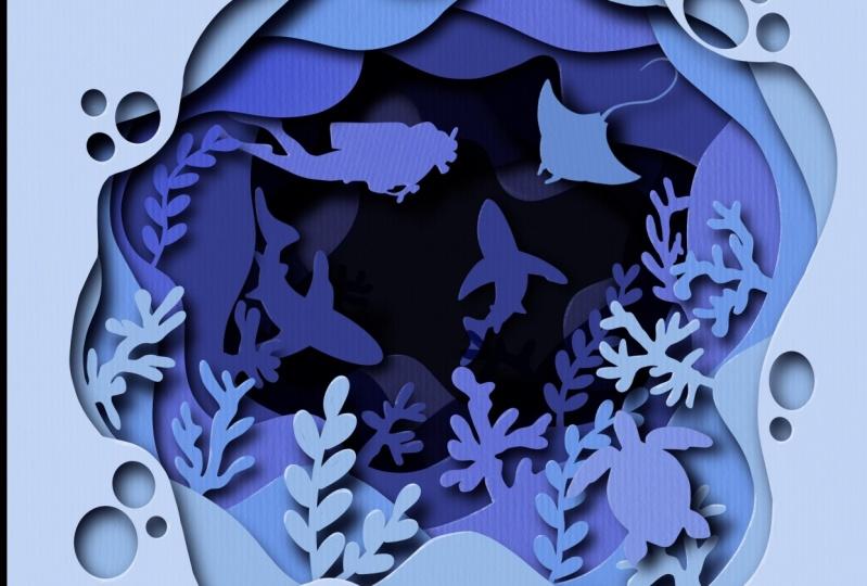 Paper Cutout Sea