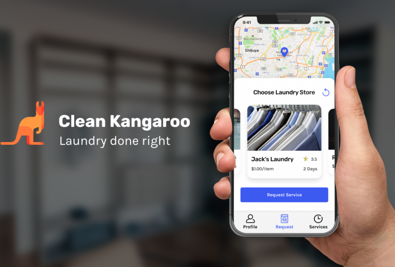 Clean Kangaroo Mobile UI