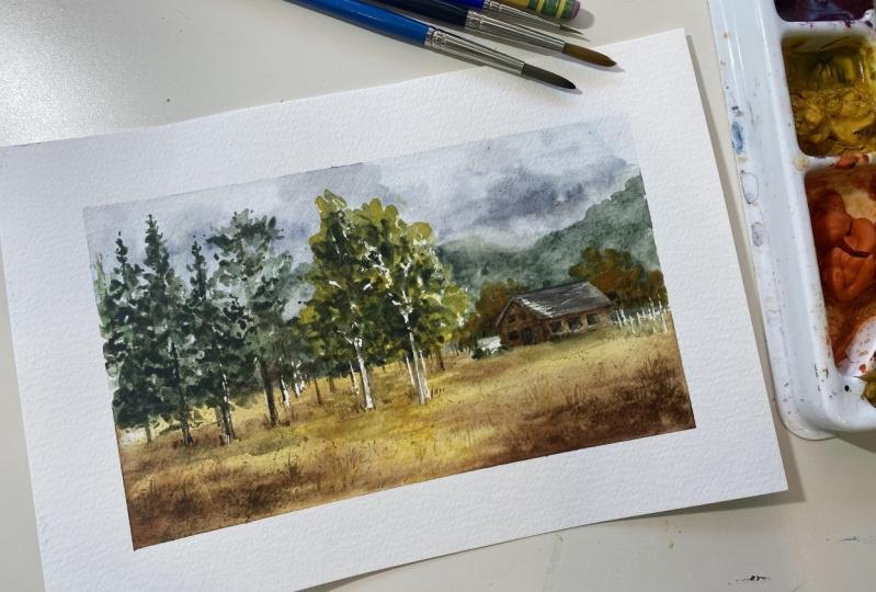 Watercolor Landscape Practice