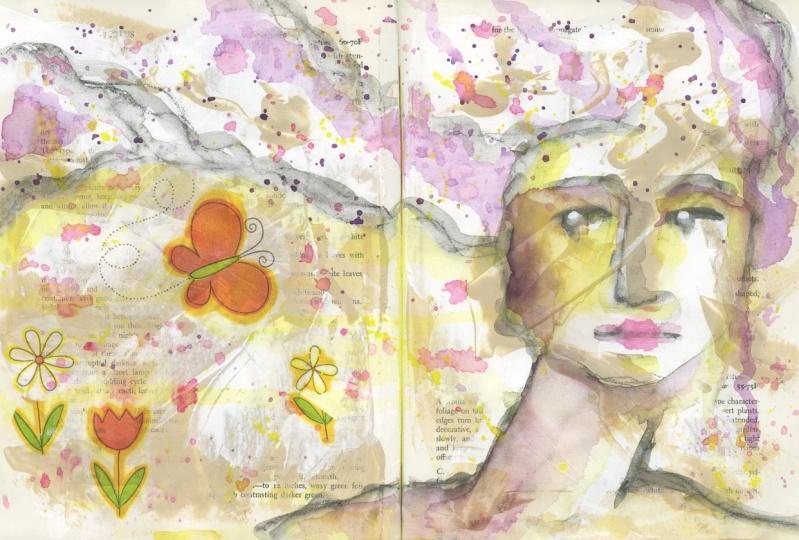 My Mixed Media Art Journal Girl