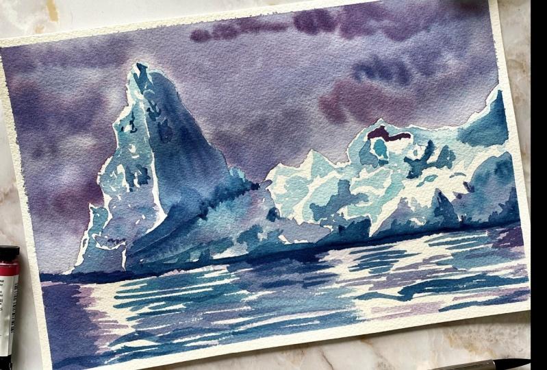 Watercolor Iceberg
