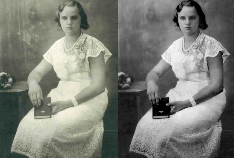 Family photo repaired