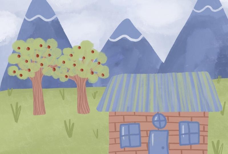 Developing style (landscape illustration)