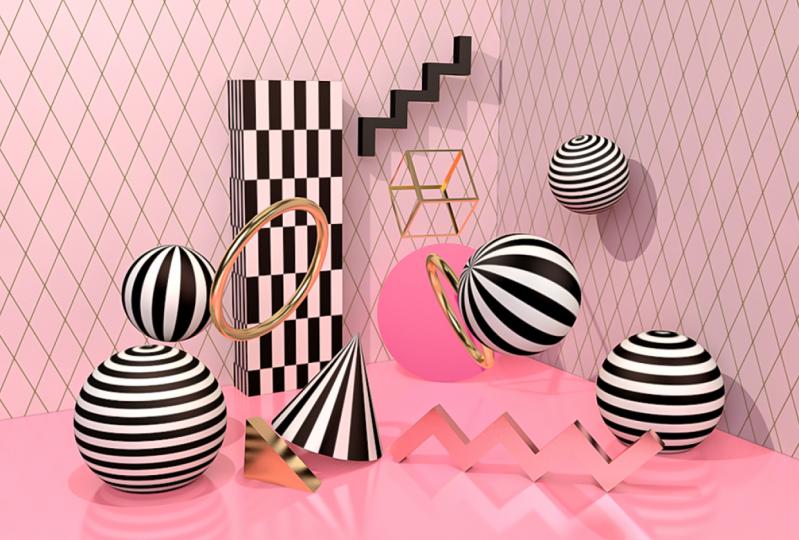3d Geometric Shapes world
