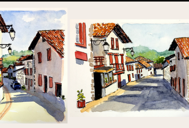 A French Village Scene
