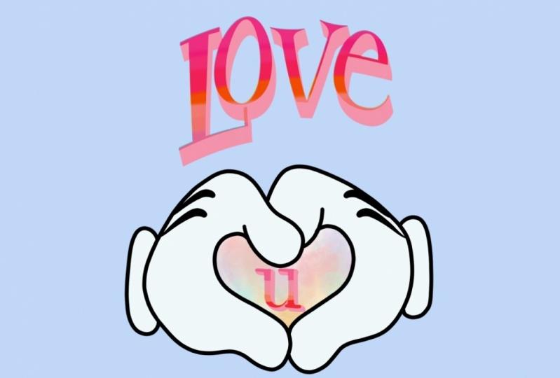 Cartoon Love U hands