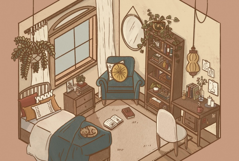 Isometric Room Illustration