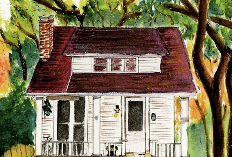 Painting Facades with Ink and Watercolor