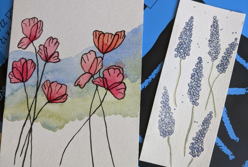 Poppies and Hyacinths