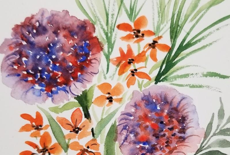 Simple Watercolor Bouquet