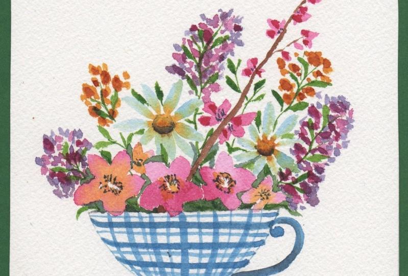 Loose Watercolor Floral Bouquet