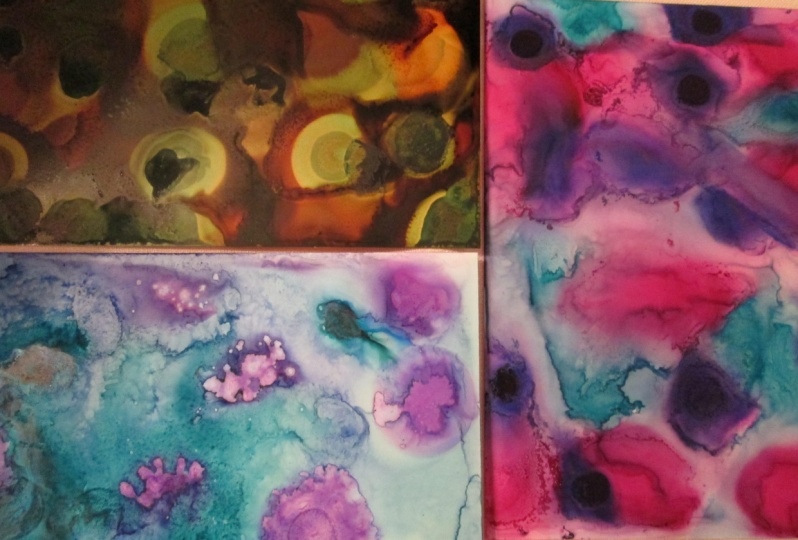 Playing with Alcohol Inks