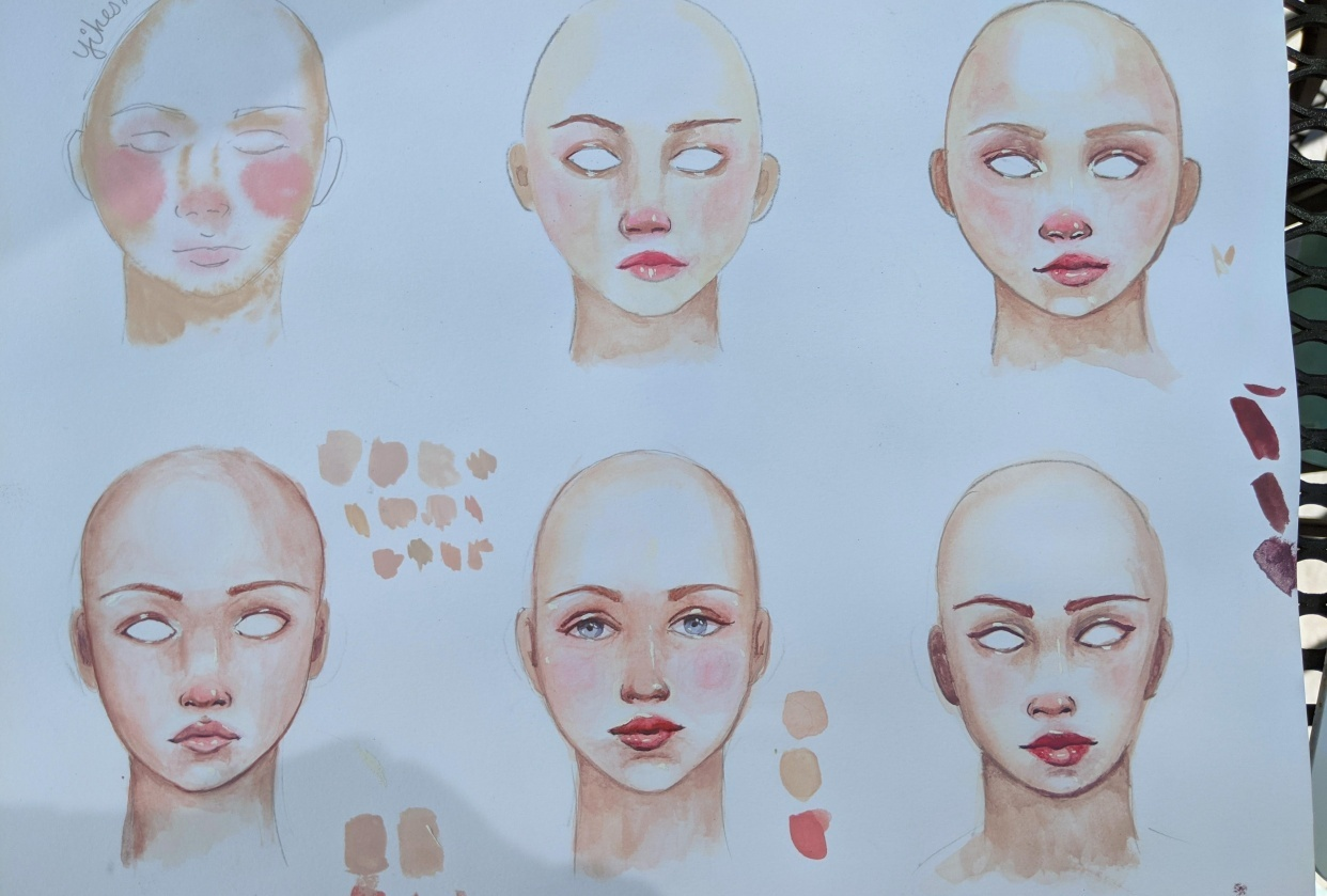 "Paint Beautiful ""Porcelain"" Skin with Gouache  Shamila Boffo"